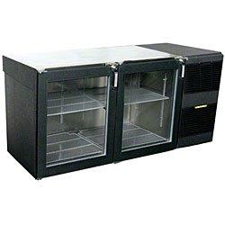 """Glastender Lp60-R1-Gn(Ll) 60"""" Glass Door Low Profile Back Bar Cooler"""