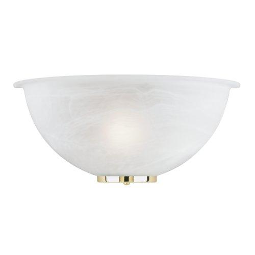 Westinghouse 64627 - 1 Light Polished Brass Wall Sconce Light Fixture