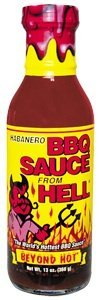 Habanero BBQ Sauce From Hell - There's more than 20 different herbs and spices in this barbeque blaster! On the grill, in the oven, or just mix with sour cream for a dip that's out of this world. (Bbq Sauce From Hell compare prices)
