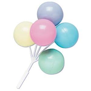 Dress My Cupcake DMC41B-901PSLSET Balloon Bouque Pick Decorative Cake Topper, Baby Shower, Assorted Pastel, Case of 36