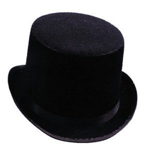 US Toy's Black Top Hat, One Size or Standard