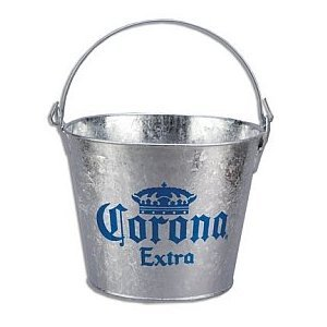 Buy Corona Extra Galvanized Beer Bucket W/Built-In Bottle Opener