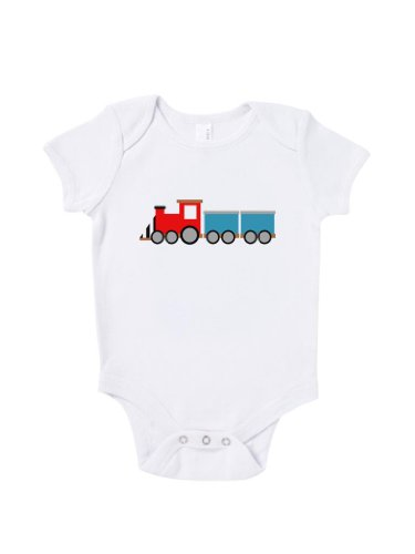 Blue Ivory Toy Train Baby Grow Novelty Playtime Funny Joke Inspired front-908985
