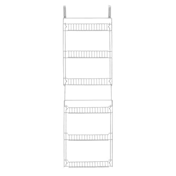 Storage Dynamics 5-Foot Vinyl Covered Steel Over door Storage Basket Rack