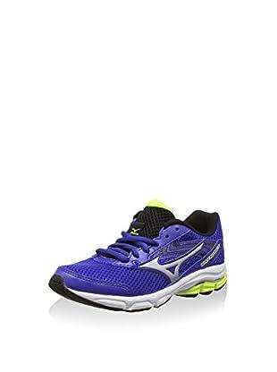Mizuno Zapatillas de Running Wave Inspire Jnr (Azul / Plateado)