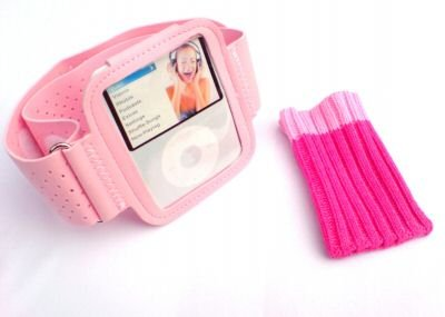KMS - PINK ARMBAND & PINK SOCK PACK FOR THE iPOD NANO 3G 4GB 8GB