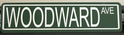 WOODWARD AVE. STREET SIGN