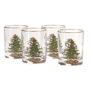 #!Cheap Spode Christmas Tree Glass Double Old Fashioneds Set(s) Of 4