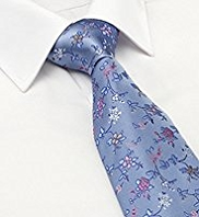 Sartorial Pure Silk Embroidered Floral Tie