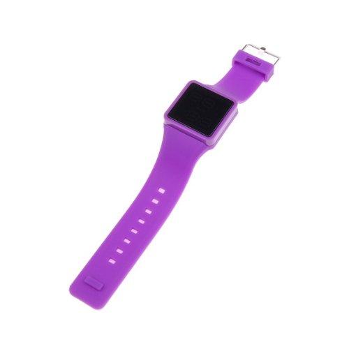 Bestdealusa Purple Fashion Silicone Touch Screen Digital Led Unisex Watch