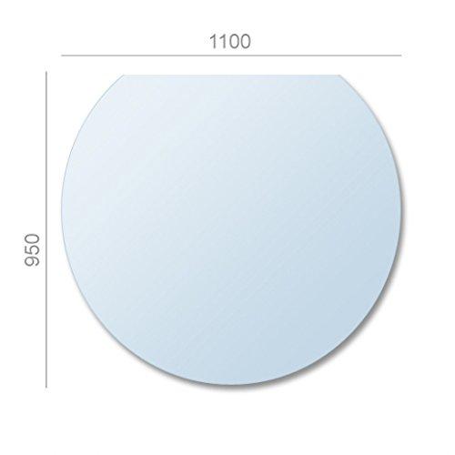 AA-Kaminwelt Kamin Ofen Bodenplatte Glas Kreisabschnitt 8mm Platte Glasbodenplatte