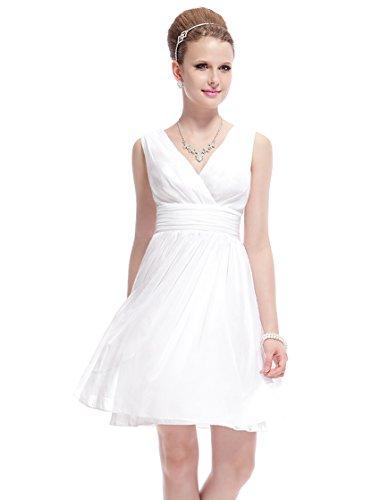 HE03989WH06, Ivory, 4US, Ever Pretty Ladies Short Wedding Dresses 03989