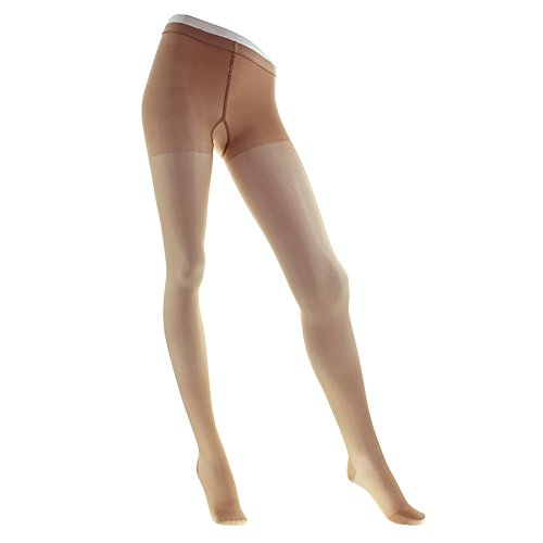 Ames Walker Women's AW Style 33 Sheer Support Closed Toe Compression Pantyhose - 20-30 mmHg Nude Medium 33-M-NUDE Nylon/Spandex