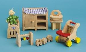 Small World Toys Ryan'S Room Wooden Doll House -Night, Night Sleep Tight Nursery Room front-840217