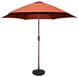 TropiShade 9-Feet Bronze Aluminum Market Rust Polyester Umbrella cover (Base sold seperately) by Galtech