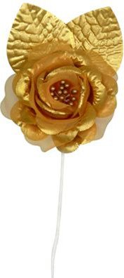 Elite Collection Rose Tie-Backs (gold)    (4/Pkg)