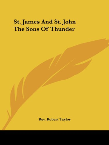 St. James and St. John the Sons of Thunder