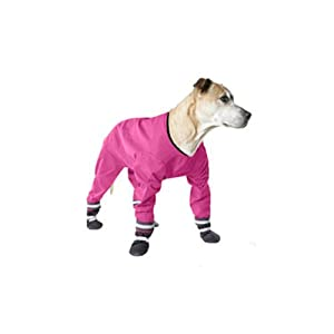 Muttluks 4-Legged Dog Jog Rain Suit, Size 12, Pink