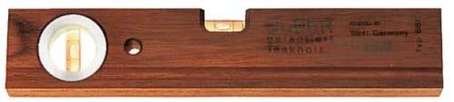 BMI-Wasserwaage-aus-Teakholz-Lnge-300-mm