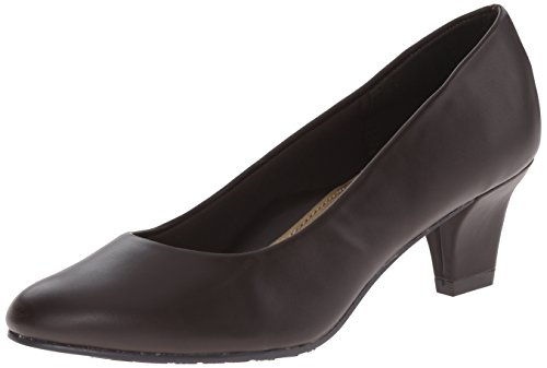 Soft Style by Hush Puppies Women's Gail Dress Pump, Dark Brown Leather, 8 2E US