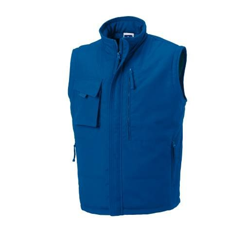 Russell Collection Mens Workwear Gilet - Bright Royal - XL