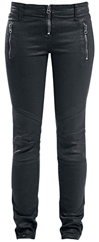 Forplay Biker Pants Jeans donna nero W30L34