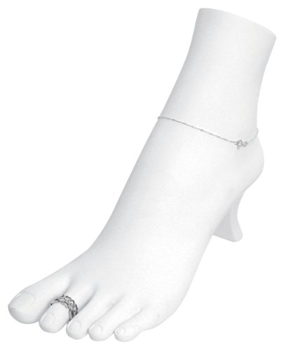 white-polystyrene-toe-ring-chain-ankle-bracelet-foot-display-storage-showcase-stand