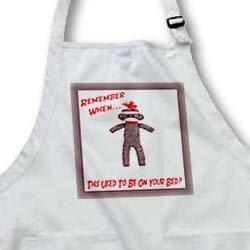 apr_13474 Susan Brown Designs Retro Themes - Sock Monkey - Aprons