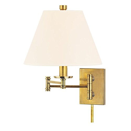 hudson-valley-lighting-claremont-1-light-wall-sconce-aged-brass-finish-with-white-faux-silk-shade