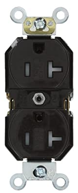 20 Amp, Duplex Receptacle, Tamper-Resistant, Straight Blade, Commercial Grade, 125 Volt, Self Grounding, Brown/Black/Grey/Ivory/Light Almond/White, TBR20