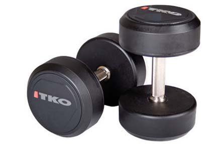 Buying 110 lb. Solid Steel Urethane Coated Dumbbells with Tri-Grip Handle – 1 Pair