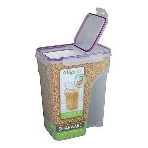 3 Pack - Snapware Fliptop Double Airtight Seal Cereal Boxes