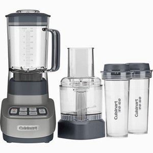 Cuisinart BFP-650GM Velocity Ultra Trio 1 HP Blender/Food Processor with Travel Cups, Gun Metal