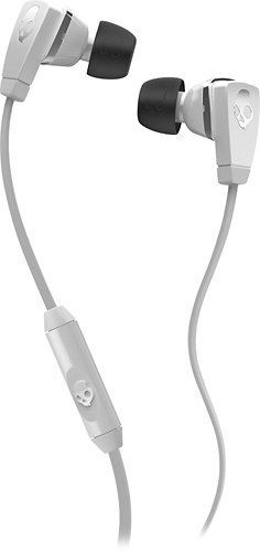 Skullcandy Merge Earbud Headphones For Phones - Retail Packaging - White/Chrome