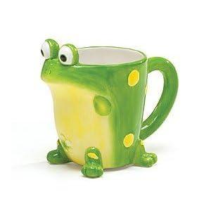 Taza decorativa en forma de sapo verde - Green Frog Froggy Coffee Mug Tea Cup Kitchen Home Décor Precio: $9.50