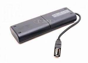 System-S Externes USB Batterie Akku Pack für Mignon AA für HTC HD7 Mozart Desire HD Z Wildfire Trophy Legend HD2 Touch Pro Touch Diamond TytN II Advantage Hero Snap Aria Gratia