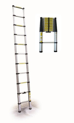 NEW 3.8M TELESCOPIC FOLDABLE  &  EXTENDABLE STEP LADDER