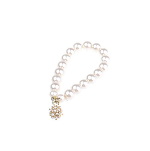 BestDealUSA Stylish Ladies Girls Big White Pearl Ball Bracelet New