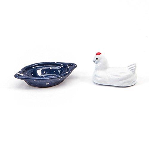 Dollhouse Miniature 1:12 Scale Chicken Roaster Pan, 2 pc (Mini Chickens compare prices)