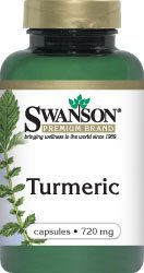 Swanson Premium Brand Turmeric Whole Root Powder, 720 mg, 240 Gelatin Caps