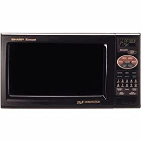 Sharp R820BK BB 0.9 Cu Ft black convection counter-top microwave