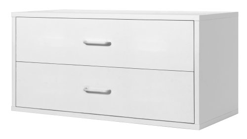 Foremost 327901 Modular Large 2-Drawer Cube Storage System, White (Modular Closet Drawers compare prices)