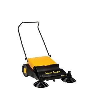 Vestil JAN-LG Manual Push Floor Sweeper with Steel Handle, 32-1/2
