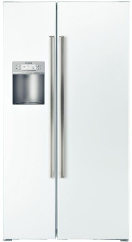 Bosch B22Cs50Snw 500 21.7 Cu. Ft. White Counter Depth Side-By-Side Refrigerator - Energy Star