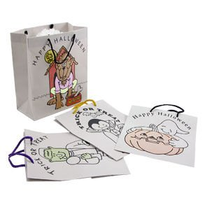 Paper Color Your Own Halloween Gift Bag