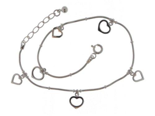 ZEEme Women's Anklet Chain 925 Sterling Silver 24+2cm 296200024Z