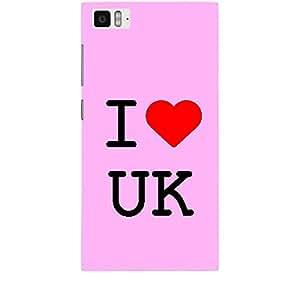 Skin4gadgets I Love UK Colour - Light Pink Phone Skin for MI 3