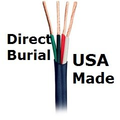 Indoor/Outdoor In Wall Or Direct Burial Home Audio 14/4 Awg Gauge 500 Ft Cl3 Speaker Wire Or Low Voltage Lighting Cable - Oxygen Free Copper - 105 High Strand Count - Made In The Usa! Black