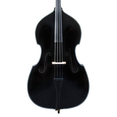 Cecilio CDB-BK Size 3/4 Black Upright Double Bass w/Adjustable Bridge (Black Upright Bass compare prices)