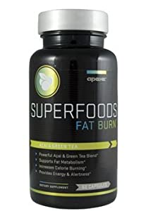 Apex SUPERFOODS Fat Burn, With Green Tea and Acai Berry, 60 Capsule Bottle